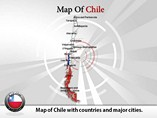 Map of Chile Templates For Powerpoint