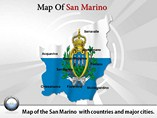 Map of San Marino Templates For Powerpoint