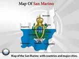 San Marino Map Powerpoint Template