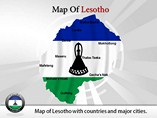 Map of Lesotho Templates For Powerpoint