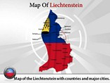 Map of Liechtenstein Templates For Powerpoint