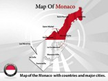 Map of Monaco Templates For Powerpoint
