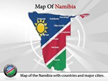 Namibia Map Templates For Powerpoint