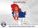 Map of Serbia Templates For Powerpoint