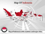 Map of Indonesia Templates For Powerpoint