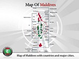 Map of Maldives Templates For Powerpoint