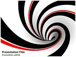 Black and Red Abstract  Powerpoint Template