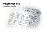 The Gospel of John (PPT)Powerpoint Template
