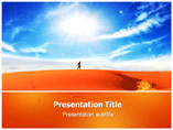 Dry Desert Templates For Powerpoint