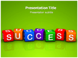 Dices for Success Templates For Powerpoint