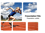 Athlete Running Templates For Powerpoint