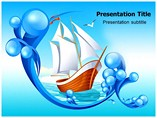 Sailing In Sea Templates For Powerpoint
