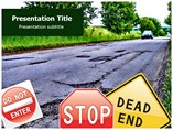 Tough Road Ahead Templates For Powerpoint