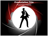 James Bond Silhouette PowerPoint Design,  James Bond Silhouette PowerPoint Background Templates