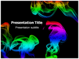 Rainbow Smoke Powerpoint Template