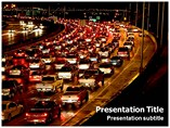 Night Traffic Templates For Powerpoint