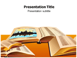 Open Book Library Templates For Powerpoint