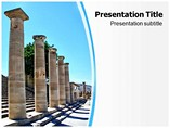 Greek Columns Powerpoint Template