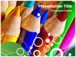 Coloured Pencil Art Templates For Powerpoint