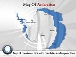 Antarctica Map Powerpoint  Templates