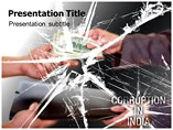 Corruption In India Templates For Powerpoint