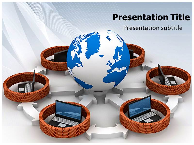 Connection of Computers PowerPoint Graphics