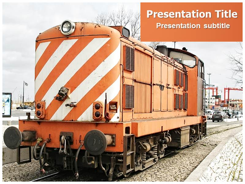 Royal Train PowerPoint Template