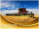 Wheat Harvesting Powerpoint Template