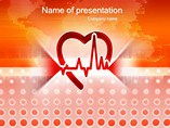 Healthy Beats Of Heart Templates For Powerpoint