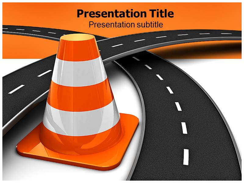 Fork In The Road Powerpoint Template