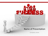 Ladder of Success PowerPoint Template, Ladder Of Success PowerPoint Background Templates