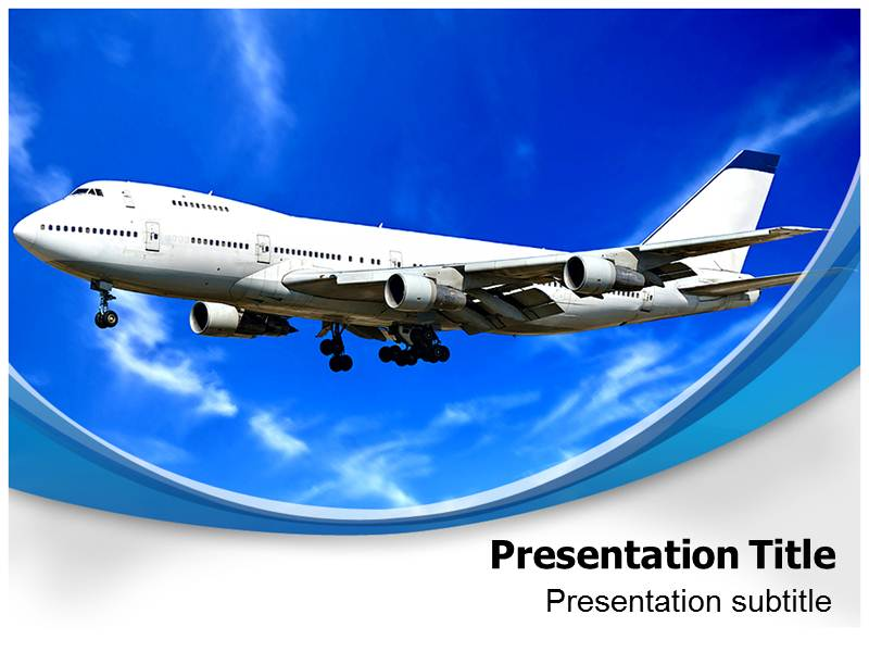 Jet Blue Powerpoint Template