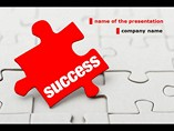 Success Puzzle PowerPoint Background