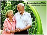 Senior Couple Powerpoint Template