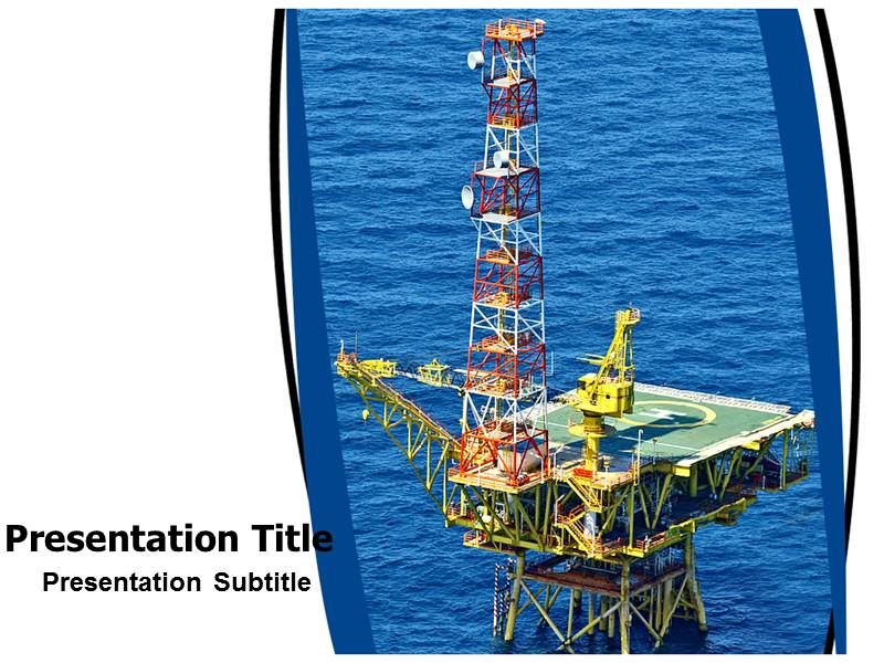 powerpoint template oil rig image collections - powerpoint, Presentation templates