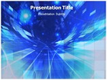 Blue Abstract Art Templates For Powerpoint