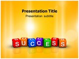 Colorful Cubes on Success PowerPoint Backgrounds