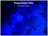 Blue Bokeh Powerpoint Template