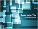 Square Bokeh Powerpoint Template