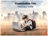 Boy is Learning Templates For Powerpoint