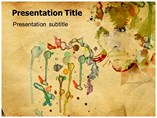 Abstract Watercolor Art PPT Template
