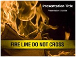 Fire Line Do Not Cross Templates For Powerpoint