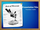 Parts Of Microscope Templates For Powerpoint