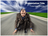 On My Way Powerpoint Template