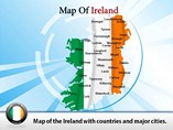 Map of Ireland Counties Templates For Powerpoint