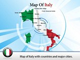 Map Italy States Templates For Powerpoint