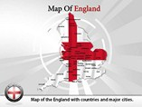 Map of England Templates For Powerpoint