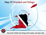 Maps of Trinidad and Tobago Templates For Powerpoint