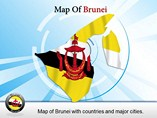 Maps Brunei Templates For Powerpoint