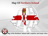 Map of Northern Ireland Templates For Powerpoint
